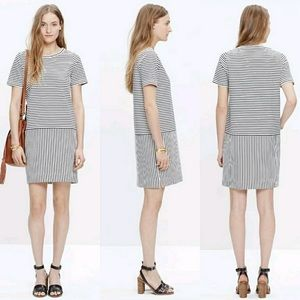 Madewell dockside striped t shirt dress SZ s